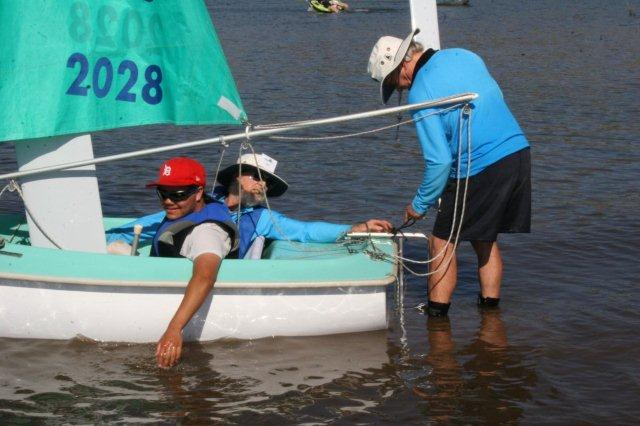Adjusting the rudder